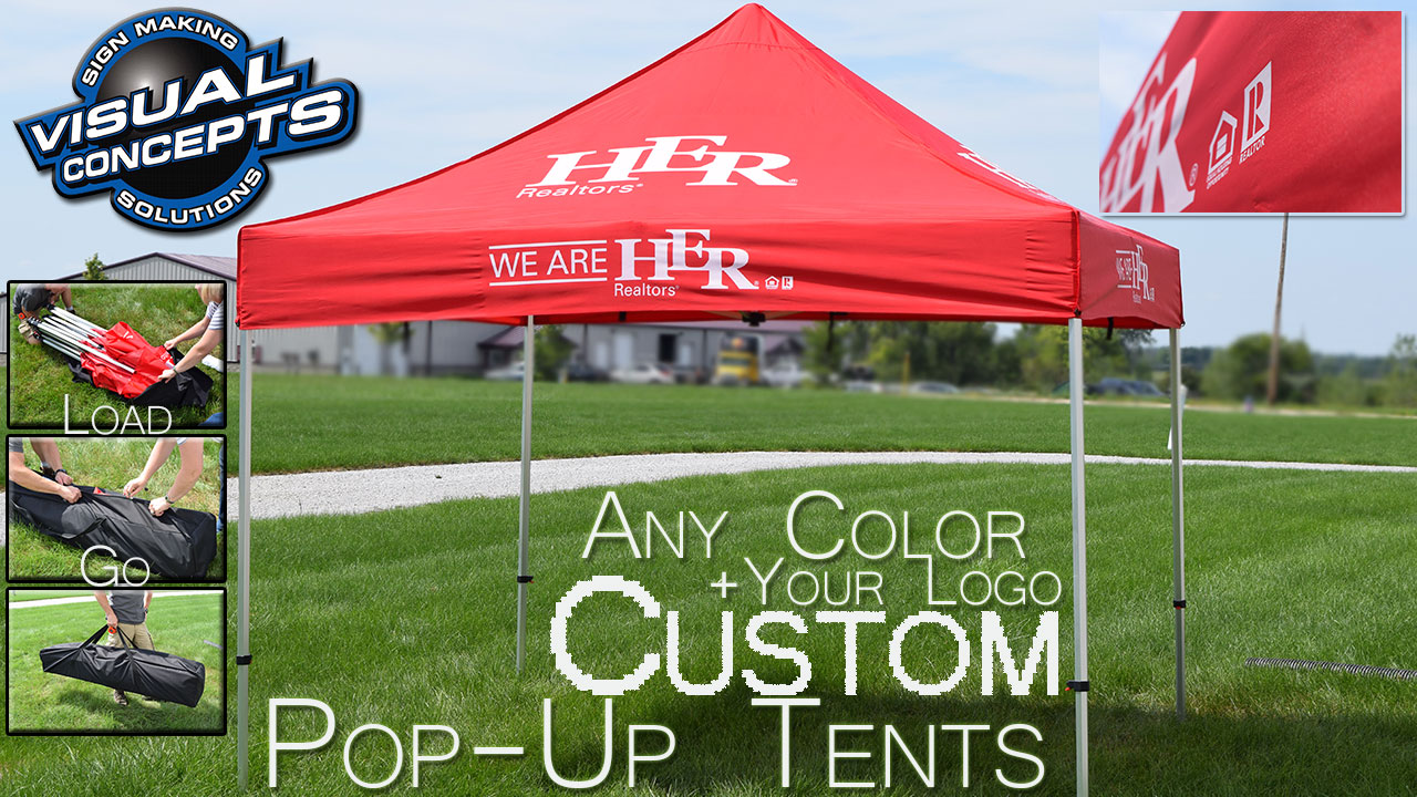 Custom Pop Up Tents Any Color Plus Logo