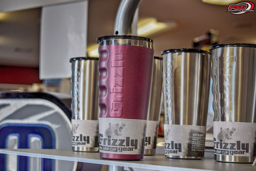 Grizzly Coolers Gear Gripped Drinkware Color Maroon
