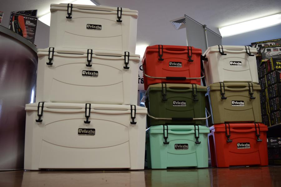Grizzly Coolers Colors and Sizes