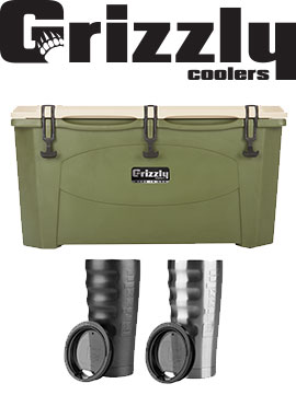 Grizzly Cooler and cups