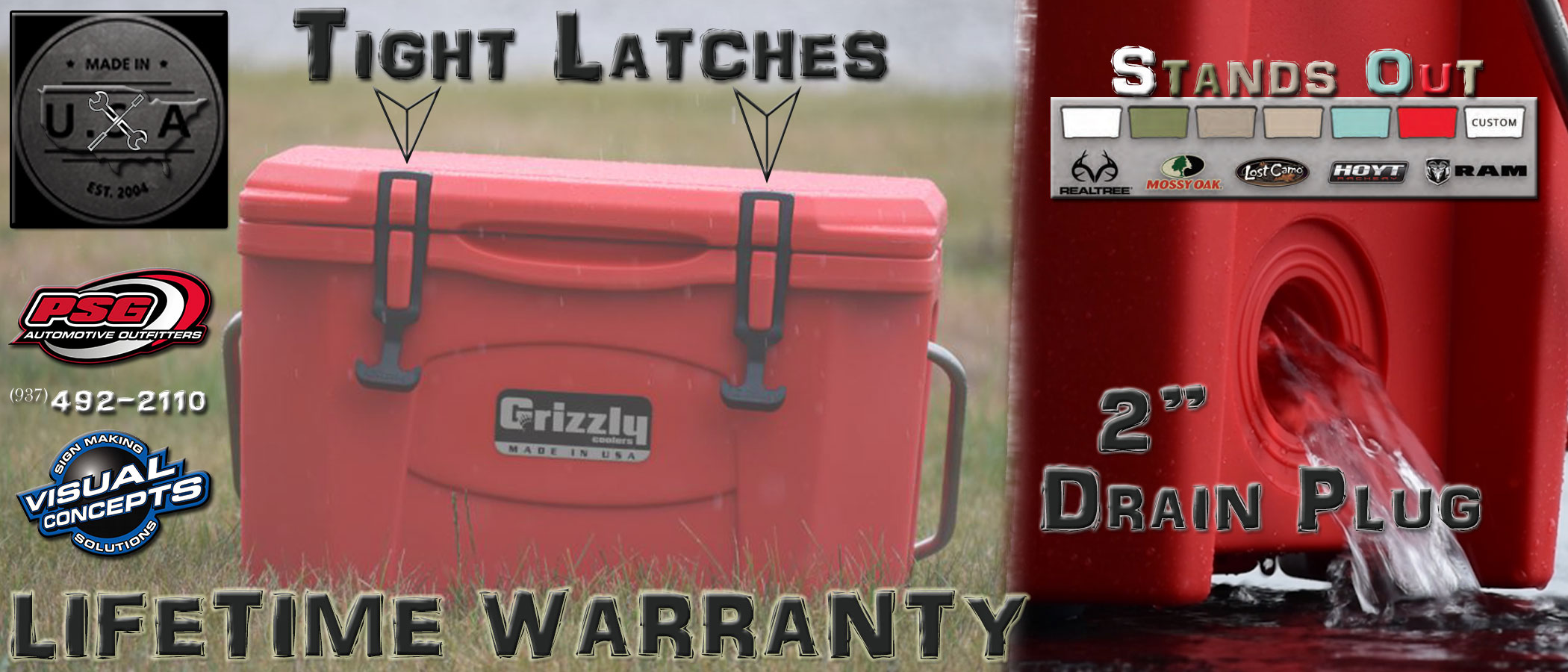 Grizzly Greats Coolers Psg Automotive Outfitters Truck