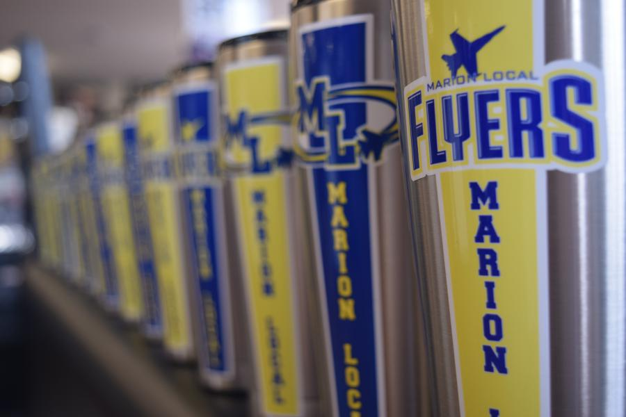Marion Local High School Custom Grizzly Gear Tumblers. Visual Concepts Sign Making Solutions