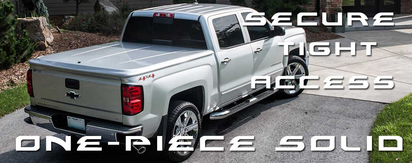 One piece truck bed cover. Truck Accessories. PSG Automotive Outfitters