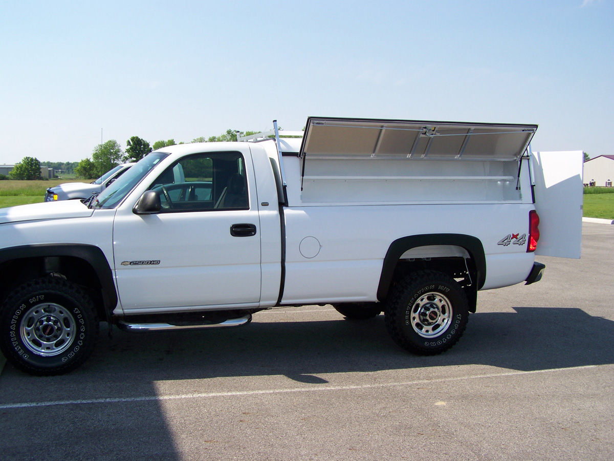 Truck Caps Fiberglass Bed Cap Aluminum Work Truck Caps