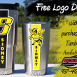 Sidney Yellow Jackets. Decal Tumblers. PSG Automotive
