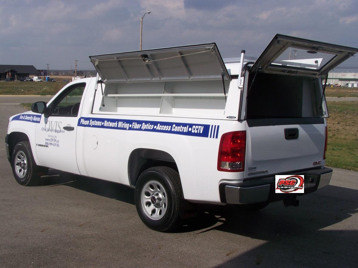 Gmc Sierra Truck >> Truck Caps | Fiberglass Bed Cap Aluminum Work Truck Caps