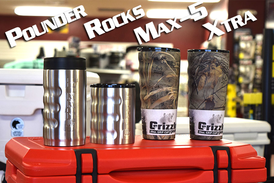 Grizzly Coolers Camo cup grip rocks pounder
