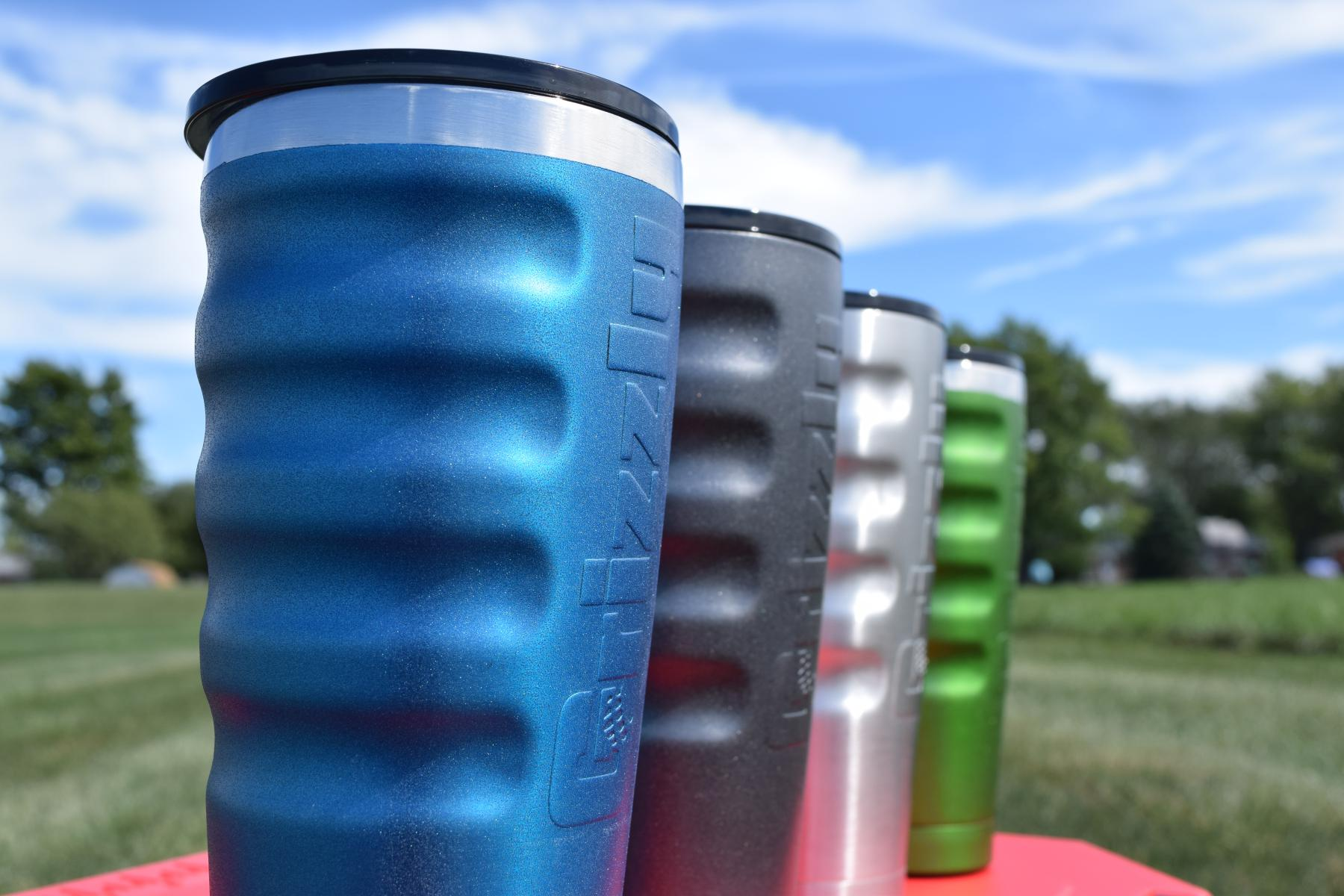 Grizzly Coolers Gear Gripped Tumblers Color Stainless