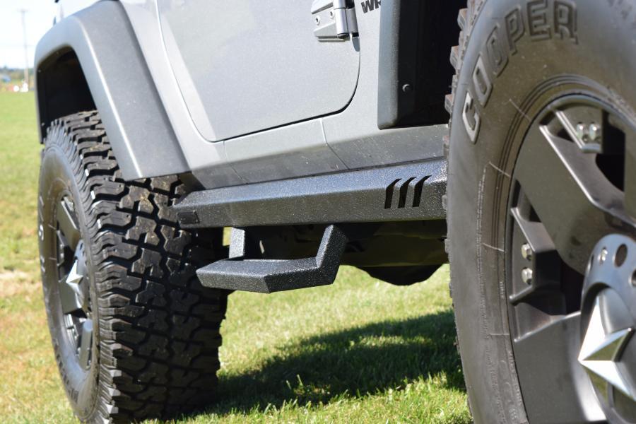 Jeep Wrangler Sport Lund Rock Rail With Step Psg