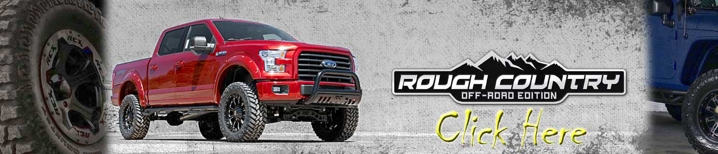 Rough Country Lift Kit and Complete Offroad packages ford chevy dodge GMC